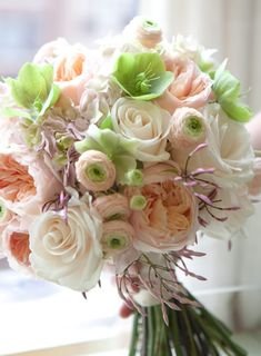 Garden Roses, Roses, Hydrangea, Ranunculus, Hellebores and Jasmine