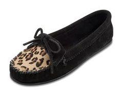 Limited Edition Leopard Kilty Moc - Black