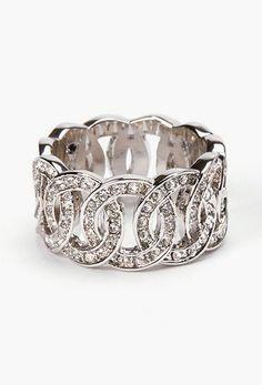 Sparkle Loop Eternity Ring