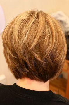 back of layered bob