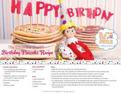 Elf Birthday Tradition Pancakes