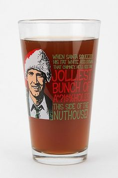 National Lampoon's Christmas Vacation Pint Glass. I know a man that will be very happy to drink his Christmas brew from this glass!