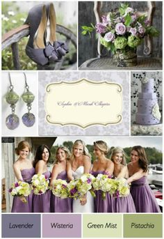 """wedding colors  *Love the """"off"""" color of purple."""