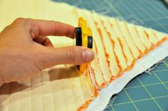 leave the printed fabric slightly larger to create a margin that will make it easier for cutting