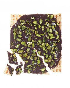 Passover Desserts // Pistachio, Honey and Sea Salt Matzo Recipe