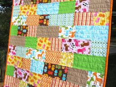 Handmade Patchwork Baby Quilt by CinnamonToastDesigns on Etsy, $110.00