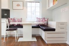 cool drawers in banquette