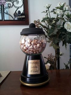 """Gumball"" Candy Jar from Terra Cotta Pots!"