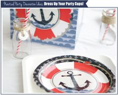 DIY Nautical Party Decorations #BigDot #HappyDot