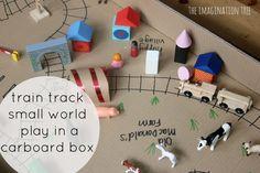 train tracks small world play in a box