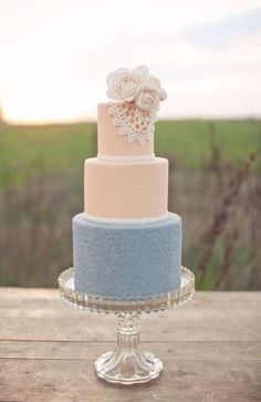 Blush and Dusty Blue