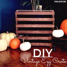 DIY Vintage Egg Crate
