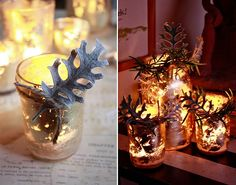 how to: gold leaf candle votives