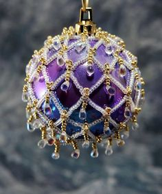 Beaded Ornament Cover (sold)  BeadingWolves - etsy