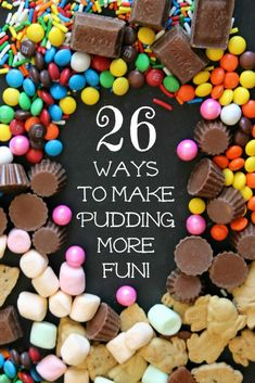 Yum! I want to try all of these - 26 delicious pudding topping ideas