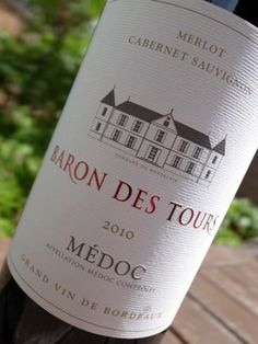 Baron Des Tours 2010 Medoc Claret - try with roast or grilled lamb
