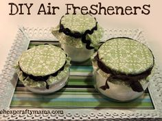 These work great! I put them behind the toilets in my home. Keeps things smelling fresh! DIY Air Fresheners