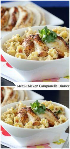 Mexi-Chicken Campanelle Dinner!  Great weeknight weeknight dinner.