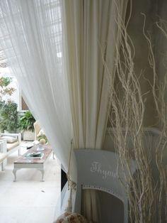 muslin and linen curtains texture