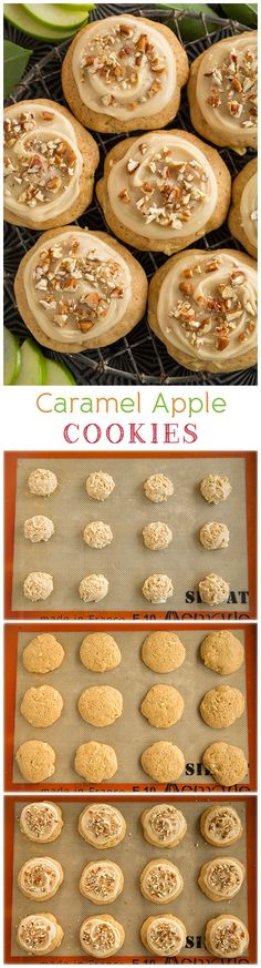 Caramel Apple Cookies - a soft apple cookie topped with a delicious caramel frosting. They are completely delicious!!