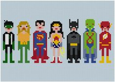 Cross-stitching - Justice League