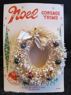 I love the vintage Christmas corsages.