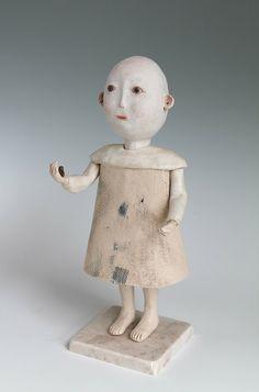 Protector of little birds DoGoo - Contemporary Clay Idols