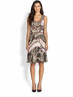 Diane von Furstenberg Katarina Silk Chiffon Printed Dress