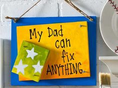 Celebrate Father's Day: 3 DIY Dad Gifts - click thru for the full how to. For the shed, garage, man cave ect.