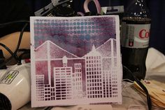 Video on using acrylic paint and stencils