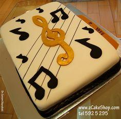 musical cakes, cake idea, music cakes