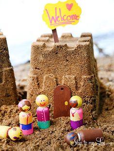 DIY Sand Castle Figures! www.skiptomylou.org #diy #kids #summer