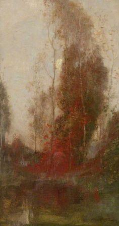 Robert MacAulay Stevenson (Scottish, 1854-1952),Autumn Moonlight. Oil on canvas, 61 x 35.5cm. Hunterian Art Gallery, University of Glasgow.
