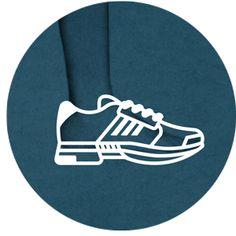 icon set, sneaker