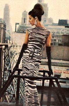 Zebra Print Dress by Mademoiselle Ricci 1962