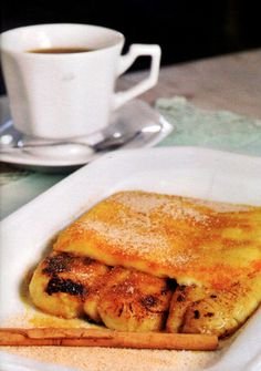 Cartola is a traditional Brazilian dessert of pan-fried bananas topped with melted cheese.