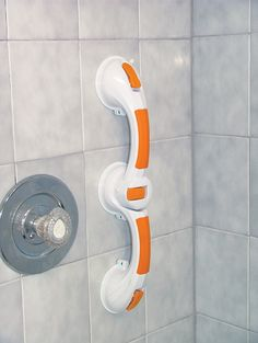 Adjustable Angle Rotating Suction Cup Grab Bar. Requires no additional modification to the client's home shower.