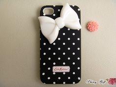 Unique white bow iPhone 4 case, iPhone 4s