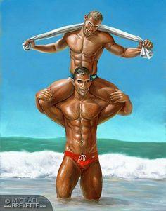 male art, adult cartoon, fantasi men, gay art, michael breyett