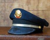 Global Jetsetter - Vintage TWA Airline Pilot Captains Hat