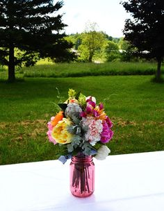 You don't need to be getting married or throwing a party to enjoy a beautiful flower arrangement.  The advantage of using Afloral.com is that once you tire of your arrangement the flowers can still be used to create new projects!
