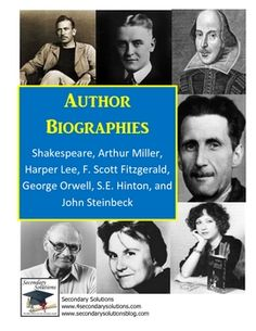Free Author Biographies and Questions