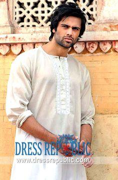 Style DRM1179, Product code: DRM1179, by www.dressrepublic.com - Keywords: Pakistani Mens Fashion in 2013, Pakistani Latest Mens Kurta Fashion 2013 EID Fashion