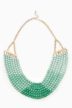 Ombre Bead Necklace in mint