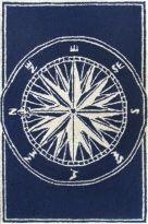 TRANS OCEAN / Frontporch 1447 33 Compass Navy $41.39 24 X 36 /// $64.39 10 X 48