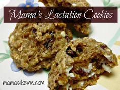 Mamas Like Me: Mama's #Lactation Cookies - increase milk supply naturally! #baby