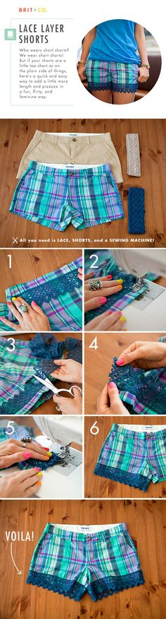 How to Make Lovely Lace Shorts | Brit + Co.