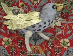 "Jane Tyler ""Bird made for exhibition at William Morris's factory site"""
