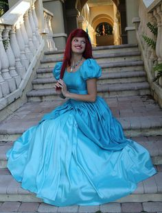 Ariel Little Mermaid Adult Cosplay Costume Ball Gown Dress Cosplay on Etsy, $375.00