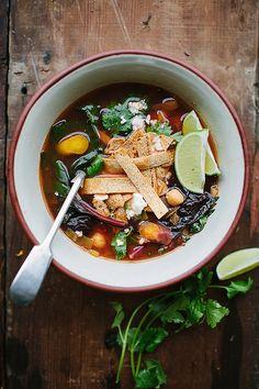 Caldo Tlalpeno —Mexican tomato-based soup